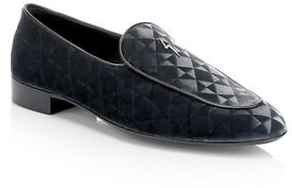 Giuseppe Zanotti Embossed Velvet Loafers