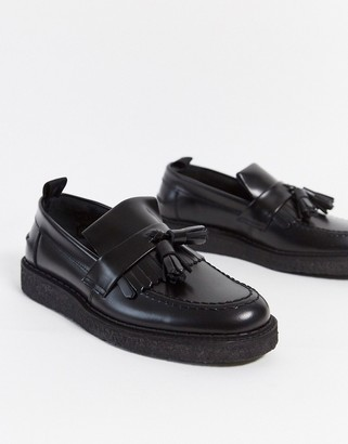 Fred Perry x George Cox tassel loafer in black