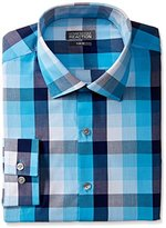 Kenneth Cole Reaction Men's Slim Fit Exploded Plaid Shirt