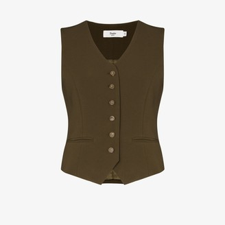 Frankie Shop Contrast Button Fitted Waistcoat