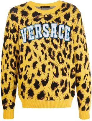 Versace leopard patterned jumper