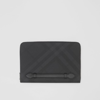 Burberry Check and Leather Ziparound Pouch