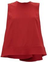 Roksanda Leya Quilted-hem Silk-georgette Trapeze Blouse - Womens - Red