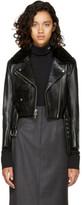 Calvin Klein Black Leather Biker Jacket