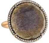 Irene Neuwirth 18K Diamond & Labradorite Cocktail Ring