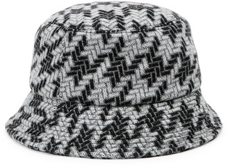 Inverni Fisherman Metallic-weave Wool-blend Bucket Hat
