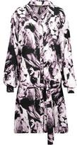 Roberto Cavalli Belted Printed Silk Mini Dress