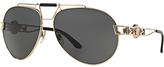 Versace VE2160 Aviator Sunglasses