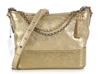 Chanel Gabrielle Gold Leather Handbags