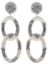 Oscar de la Renta Clip-on beaded earrings