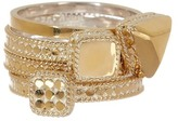 Anna Beck 18K Gold Plated Sterling Silver Geometric Shape Ring Set - Set of 4