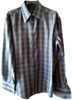 Gucci Anthracite Silk Shirts