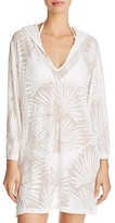 J Valdi Palm Hooded Cover Up
