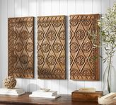Pottery Barn Carved Wood Triptych