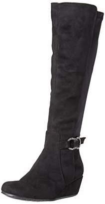 Kenneth Cole Reaction Women's Tip Dress Wedge Heel Tall Shaft Boot Knee High