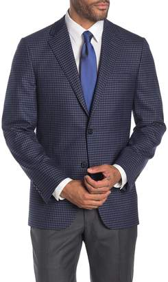 Hickey Freeman Light Blue Check Two Button Notch Lapel Wool Classic Fit Suit Separates Jacket