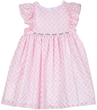 Laura Ashley Eyelet Embroidered Dress (Toddler Girls)