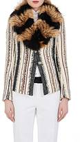 Lanvin Women's Fur-Collar Two-Button Jacket
