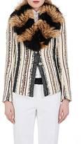 Lanvin Women's Fur-Collar Two-Button Jacket