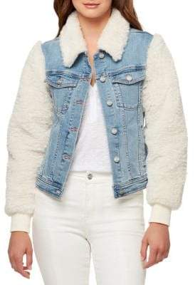 Sanctuary Minka Faux-Fur Denim Jacket