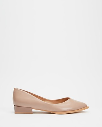 Betsy - Women's Neutrals Ballet Flats - Pointed Ballet Flats - Size 37 at The Iconic