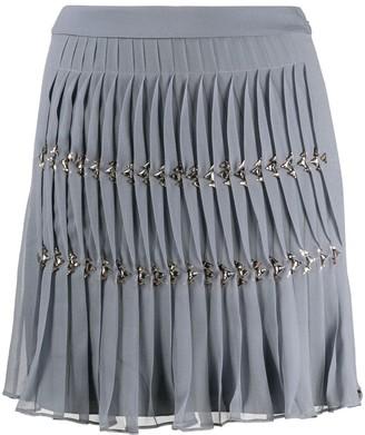 Alberta Ferretti Pleated Chain Link Mini Skirt