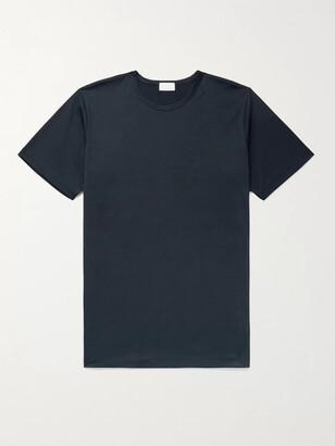 HANDVAERK Pima Cotton-Jersey T-Shirt - Men - Blue