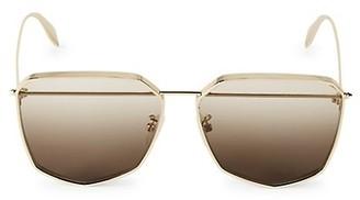 Alexander McQueen 61MM Brow Bar Sunglasses