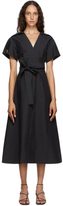 3.1 Phillip Lim Black Crossover Tied Dress