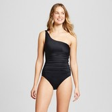 Household Essentials Clean Water One Shoulder Solid One Piece Swimsuit