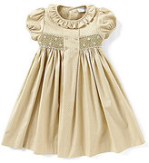Edgehill Collection Little Girls 2T-4T Mini-Dot Smocked Dress