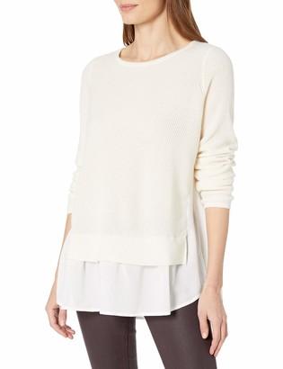 Design History Women's Chiffon Inset Sweater