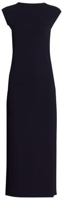 Helmut Lang Twist-Back Jersey Midi Dress