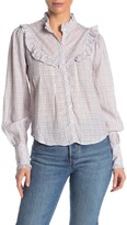Amour Vert Faherty Brand Alma Ruffled Button Front Top
