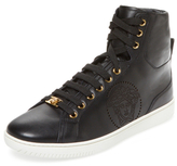 Versace Perforated Leather Hi Top