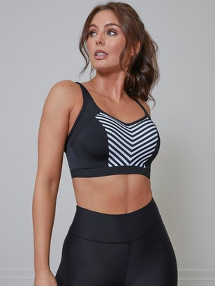 Pour Moi? Pour Moi Energy Underwired Lightly Padded Sports Bra - Black/White