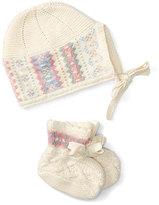 Ralph Lauren Intarsia Hat & Bootie Set, Cream, Size Newborn-9 Months