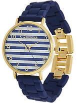 C. Wonder Nautical Stripe Dial Matte FinishBracelet Watch