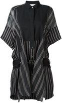 Sacai striped shirt dress - women - Cupro - 2