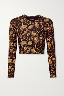 Matteau Floral-print Rash Guard - Brown