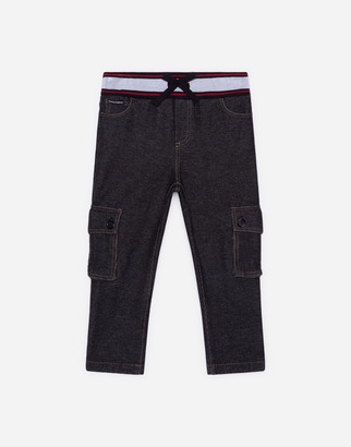 Dolce & Gabbana Jersey Jogging Pants With Denim Effect
