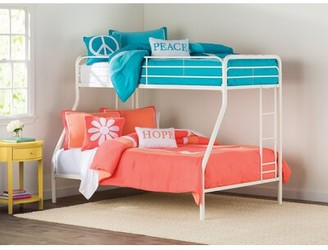 Viv + Rae Maryanne Twin Over Full Bunk Bed Color: White