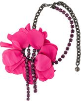 Lanvin flower pendant necklace