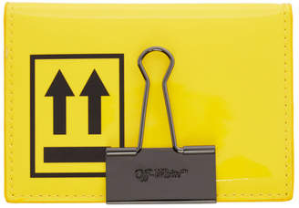 Off-White Off White Yellow and Black Patent Card Holder