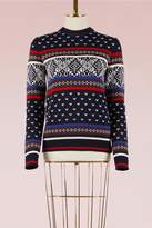 MSGM Jacquard Knit Sweater