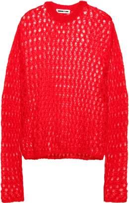 McQ Open-knit Mohair-blend Sweater