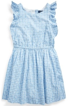 Polo Ralph Lauren Big Girls Gingham Cotton Poplin Dress