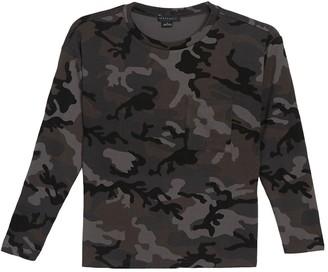 Sanctuary Crew Neck Pocket Pullover Sweatshirt