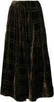 Uma Wang velvet A-line skirt