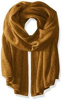 Steve Madden Women's solid Lightweight Super Soft Knit Blanket Wrap